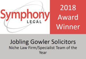 Symphony Legal 2018 Award Winner